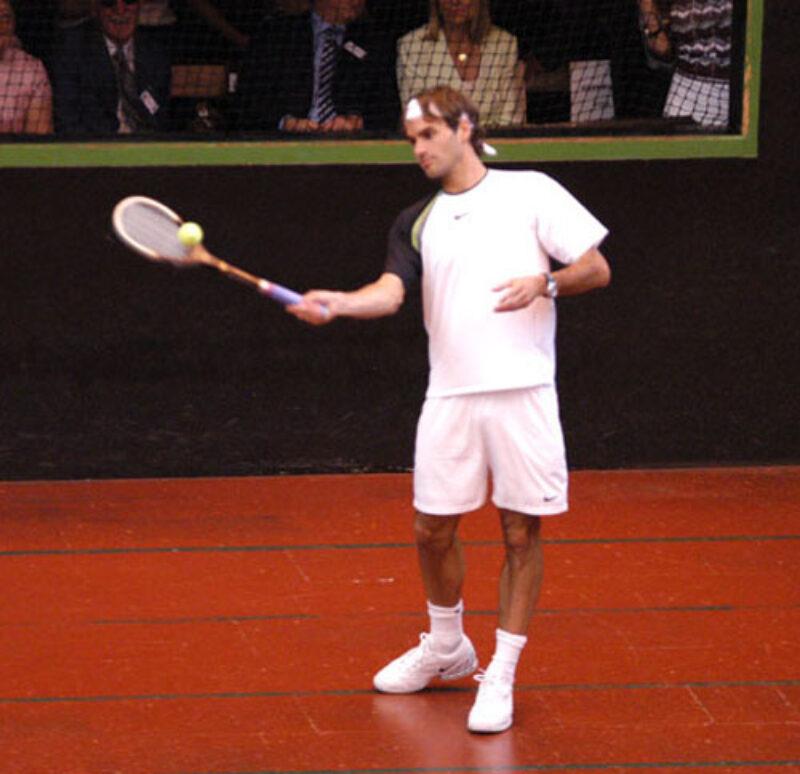 Roger Federer at Hampton Court