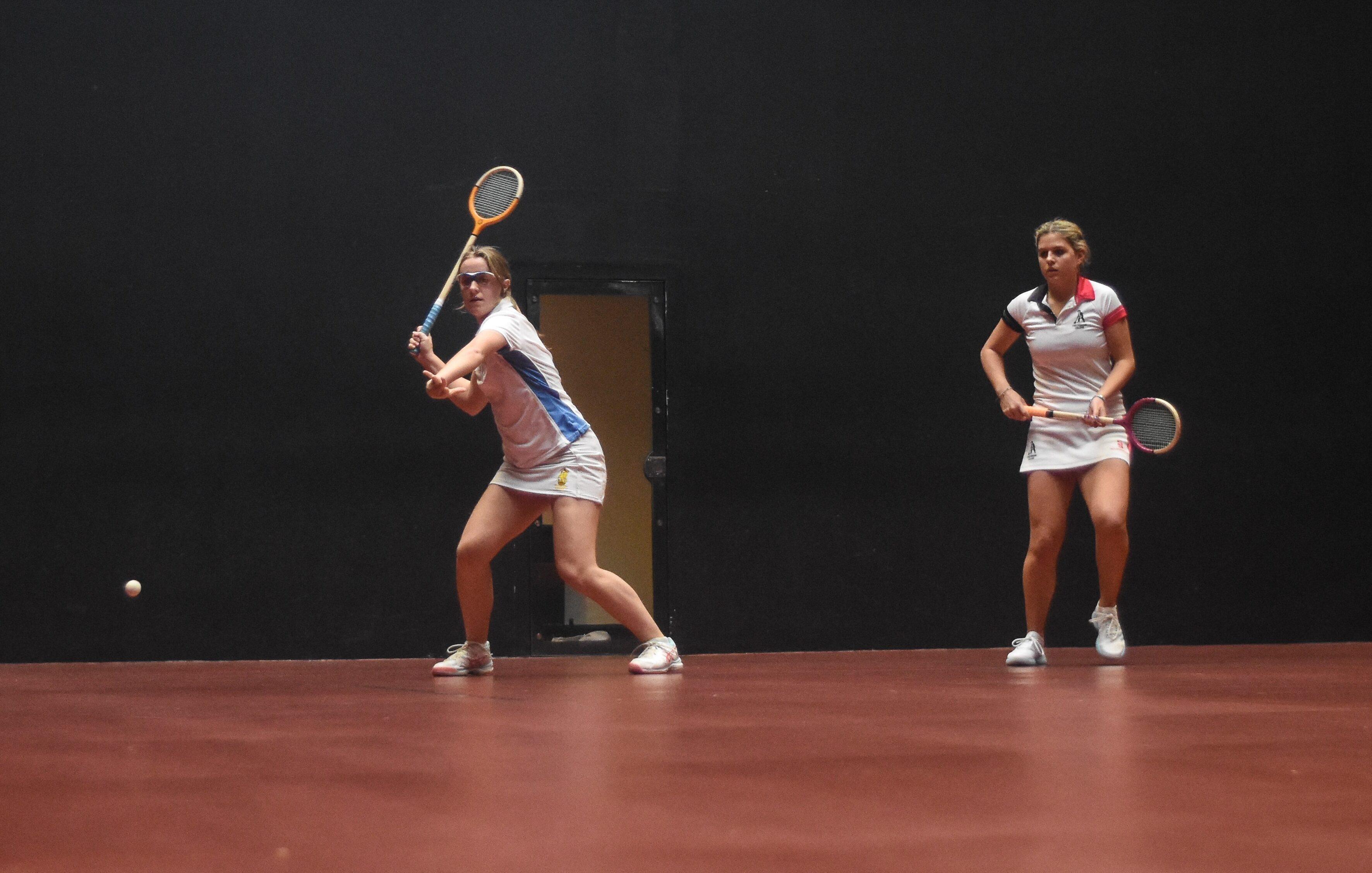 Schoolgirls in action