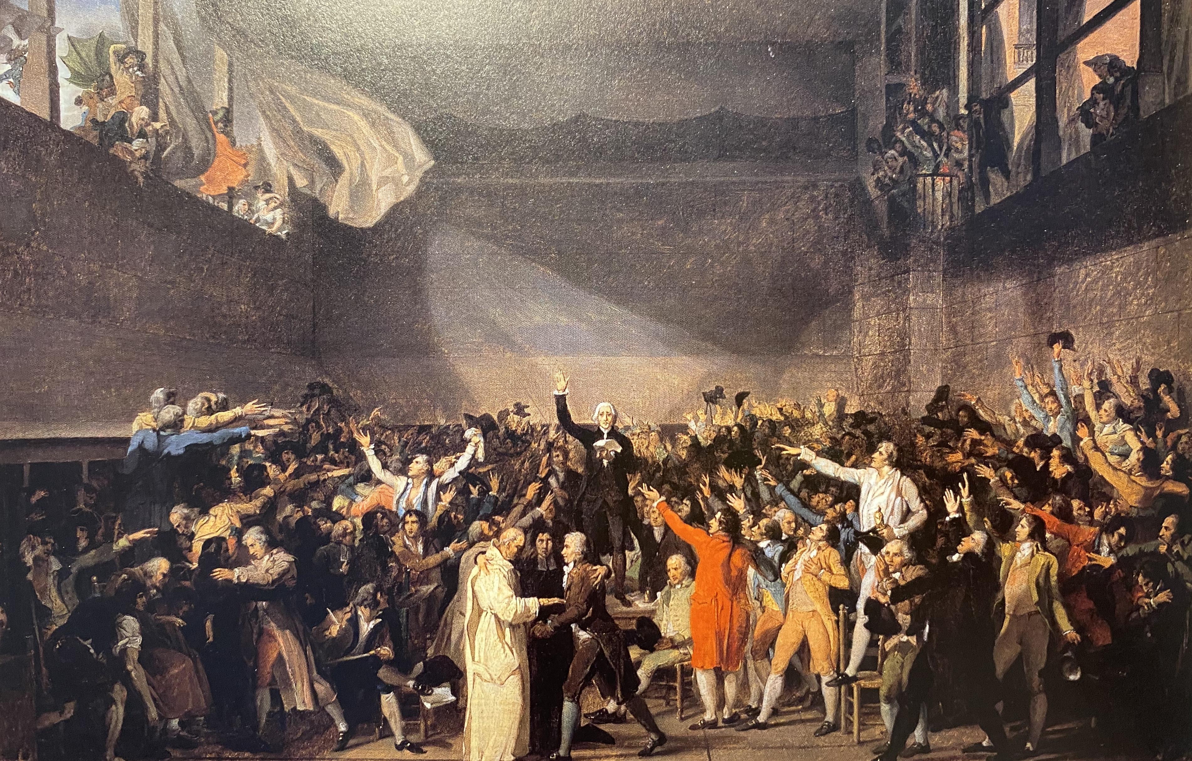 Jacques Louis David The Tennis Court Oath Versailles 1789 1791