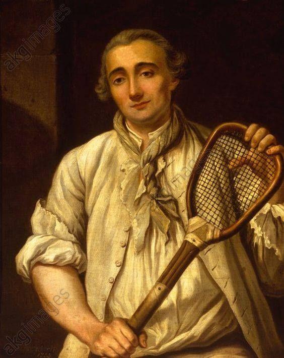 Guillaume Barcellon by Etienne Loys 1753 AELTC Wimbledon Lawn Tennis Museum