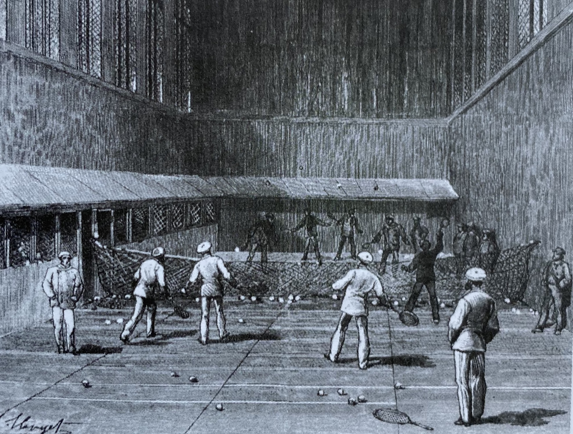 Second court at Tuileries 1880