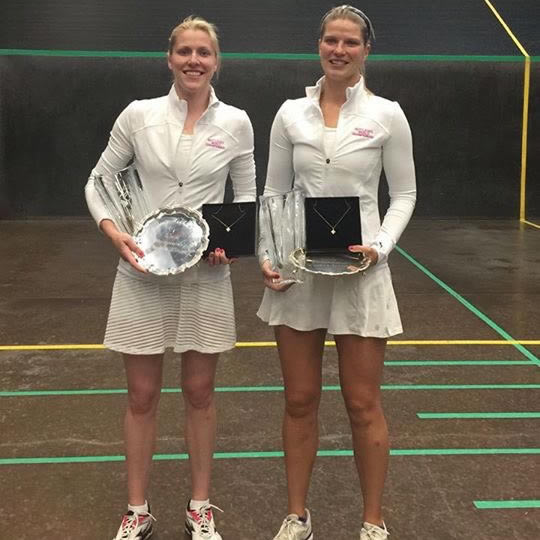 Claire Fahey _ Sarah Shuckburgh - British Open Ladies Doubles Winners 2019