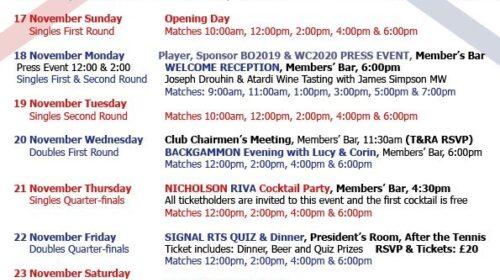 British Open 2019 - Social Events